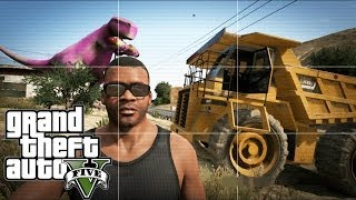 Grand Theft Auto V | EASTER EGG HUNTING | TONKA TRUCK,SEA MONSTER & BARNEY