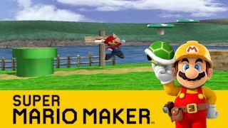 Mushroom Kingdom (Adventure Mode) & Peach's Castle (Melee) - Super Mario Maker