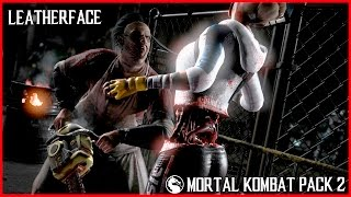 Mortal Kombat XL All Leatherface Fatality, Fatalities, X-Ray, Brutalities + Intro, Story Ending