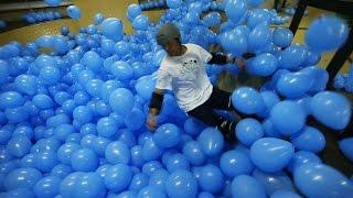 Skateboarding in 5001 Balloons! | DEVINSUPERTRAMP