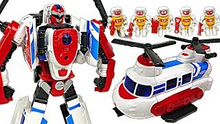 Hello Carbot hellicopter transform rescue bot Inook and engineer bot Iront appeared! - DuDuPopTOY
