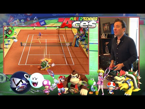 Jimmy Fallon Gets First Hands-On Play of Mario Tennis Aces