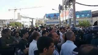 Iran, 19 mai - nouveau rassemblement sur la place principale de Kazeroun