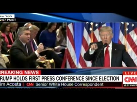 NO I WILL NOT GIVE YOU A QUESTION YOU ARE FAKE NEWS DONALD TRUMP TO CNN REPORTER AT PRESS CONF