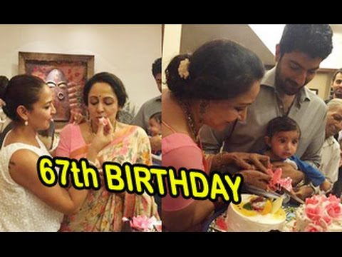 Hema Malini Celebrates 67th Birthday with Family   Esha Deol, Grandson