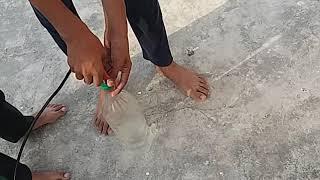 Make water rocket with plastic bottle