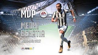 Medhi Benatia wins November MVP powered by EA Sports