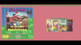 Barney's Parade of Number & Exercise Circus Super RARE Spanish VHS Opening & Closing