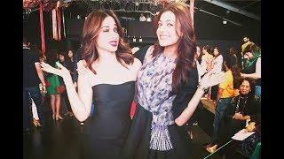 Kajal agarwal and Tamanna at Lakme Fashion Week