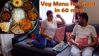 INDIAN SPECIAL DINNER ROUTINE | Indian Veg Menu for Guests 60 mins