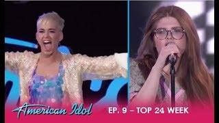 Catie Turner: Katy Perry Goes CRAZY Over Her Cover Of Call Me By Blondie | American Idol 2018