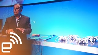 Intel CEO controls army of robot spiders with a wristband | Engadget