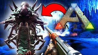 BIGGEST WORM IN THE WORLD!! Ark: Survival Evolved (IceWorm Queen Boss)