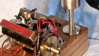 World's Smallest running v8 engine