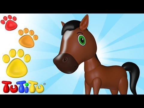 TuTiTu Animals Animal Toys for Children Horse and Friends