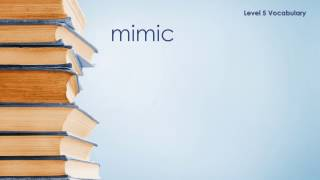 Level 5 Vocabulary - Mimic - Definition \ Meaning