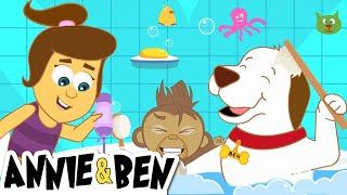 The Bath Song | Super Fun Kids Songs and More Nursery Rhymes by The Adventures of Annie and Ben