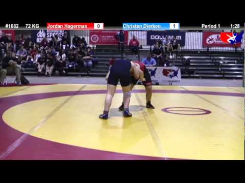2011 U.S. Open SAT WM 72 KG Jordan Hagerman vs. Christen Dierken Cons. Round 5