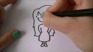 Cartoon girl! (meisje) 'How to draw' #35