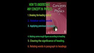 HC VERMA || How to understand any concept || How to clear concept #hcvermaphysicsbook