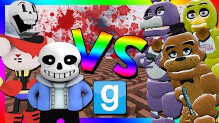 UNDERTALE VS FIVE NIGHTS AT FREDDY'S | Gmod Murder Maze Challenge (Sans, Papyrus, Fnaf Animatronics)