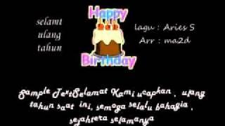 Selamat ulang tahun  by Aries Setyono