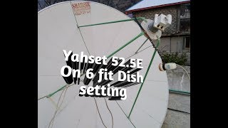 How to set Yahset 52.5E on 6 fit dish. How to watch watan TV on 6 fit dish.