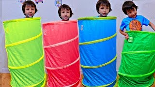 Learn Colors Finger Family Song and Toddlers Playing Hide and Seek