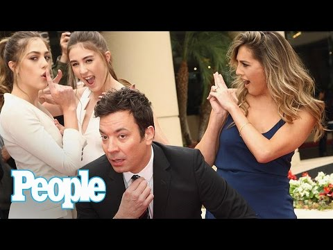 Jimmy Fallon & Sylvester Stallone s Daughters Tease 2017 Golden Globes People NOW People