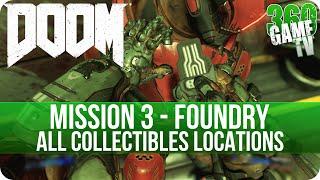Doom Mission 3 All Collectibles (Secrets, Collectibles, Data Logs, Automaps, Elite Guards, Drones)