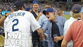 Charlie Sheen & Ashton Kutcher Bro Out At Dodgers Game | TMZ Live | TMZ Live