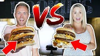 PREGNANT MUM vs DAD: BiG MAC EAT OFF CHALLENGE!! 🍔