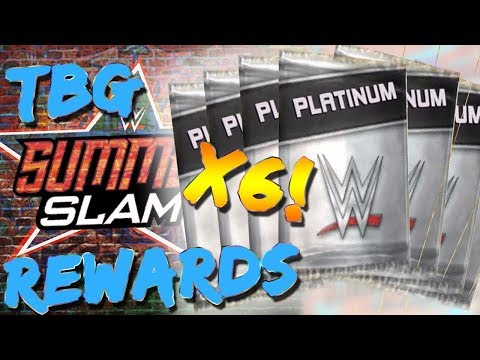 WWE SUPERCARD #40 6 SUMMERSLAM 17 TBG REWARDS!