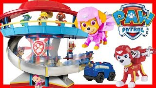 PAW PATROL Headquarters Playset Skye, Chase Saves Disney Moana and Calico Critters