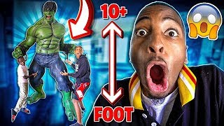 I SURPRISED THE KID'S WITH A LIFE SIZED INCREDIBLE HULK!!😱