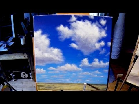 Free Acrylic Painting Lesson In Real Time Painting Simple Clouds