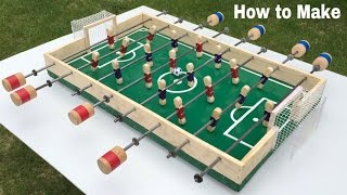 How to Make a Table Football at Home - Foosball - Mini Soccer Table -  Easy to Build
