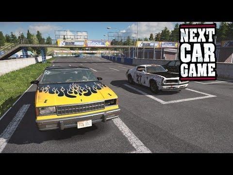 NEXT CAR GAME - American Sedan at Tarmac Racetrack (FullHD) / NCG Gameplay