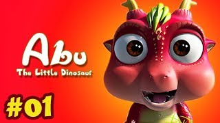 Abu The Little Dinosaur Ep 1 | The Big Rock - A Newcomer To Crescent Bay | Animals Cartoons For Kids