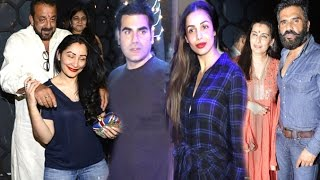 Bollywood Karva Chauth Party With Wives 2016 Full Video HD - Arbaaz-Malaika,Sanjay Dutt-Manya