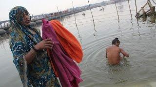 Hijras Taking Holy Dip Maha Kumbh Allahabad ,,End Of My Trip 2013