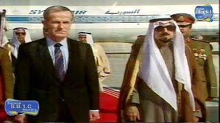 تلفزيون الكويت - الشيخ جابر يستقبل حافظ الاسد 1987 نادر