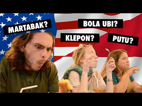 AMERICANS TRY INDONESIAN STREET FOOD