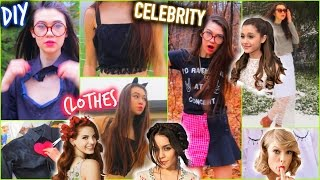 DIY Clothes: CELEBRITY Inspired (No Sew Ideas)