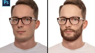 How to make beard in Photoshop