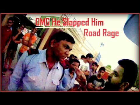 Road Rage, car driver got Slapped by security. DAV Chandigarh fight.