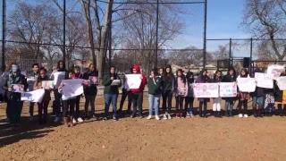 Mather High School holds student walkout