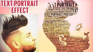 text effect photoshop - text portrait effect in photoshop cs6