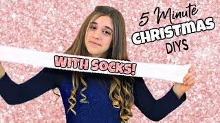 DIY Days #3 - 5 Minute DIY Christmas Gifts With Socks!!