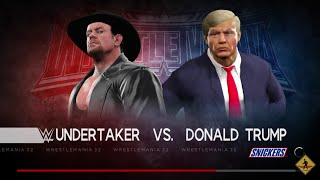 WWE 2K17 The Undertaker VS Donald Trump In A Hell In A Cell Match